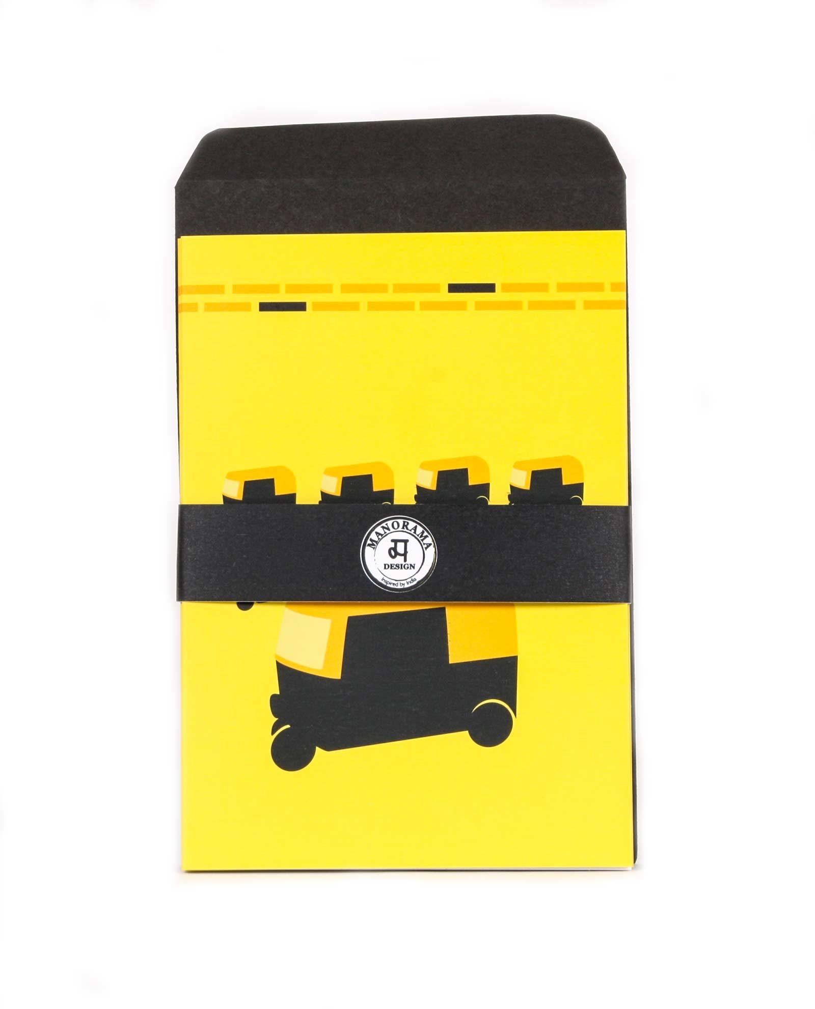 Vykort Rickshaw - gratualtionskort, hälsning, kuvert