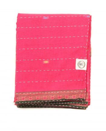 Överkas dubbelsäng - handquiltad- rosa