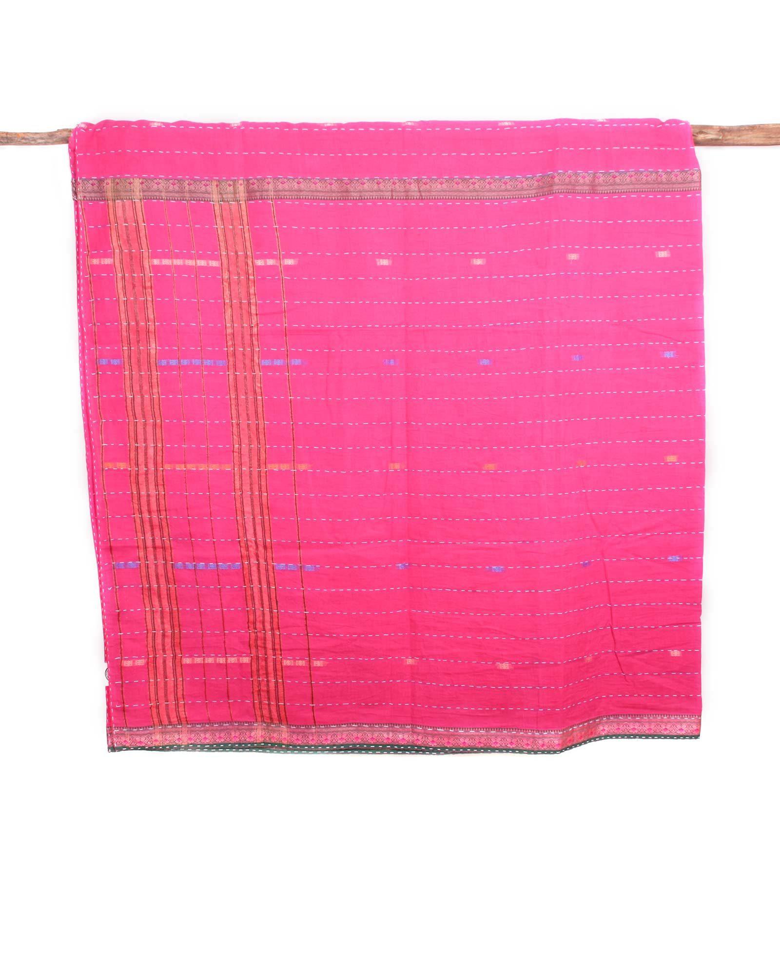 Indiskt överkast enkelsäng - handquiltad- rosa