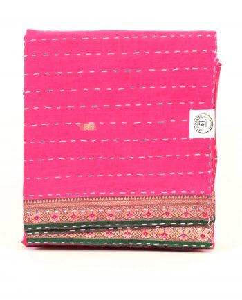 Överkast enkelsäng - handquiltad- rosa