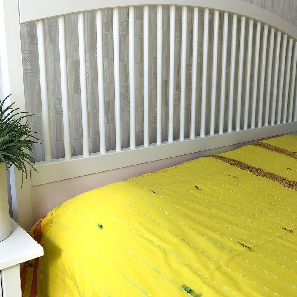 Indiskt överkast - gult - sovrum - inredning