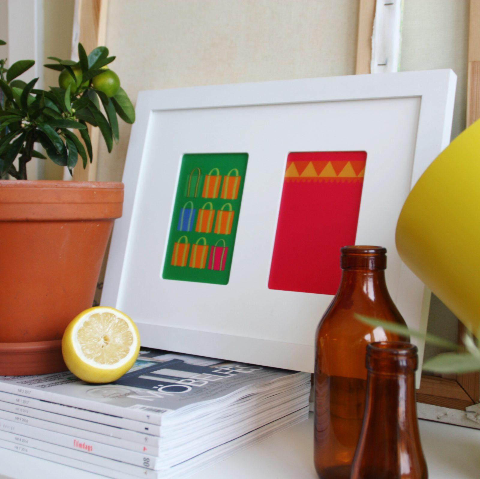 vykort, inspiration, inredning, miniposter