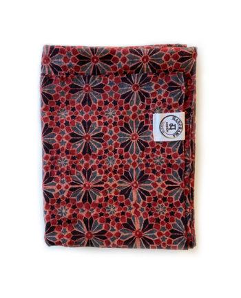 Indisk scarf - handgjord - desert red